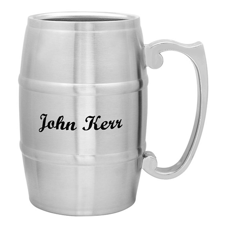 Personalized Stainless Steel Beer Barrel Mug