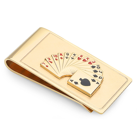 Playing Cards French Fold Money Clip