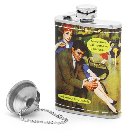 Pointless Except For Cocktails Flask by Anne Taintor