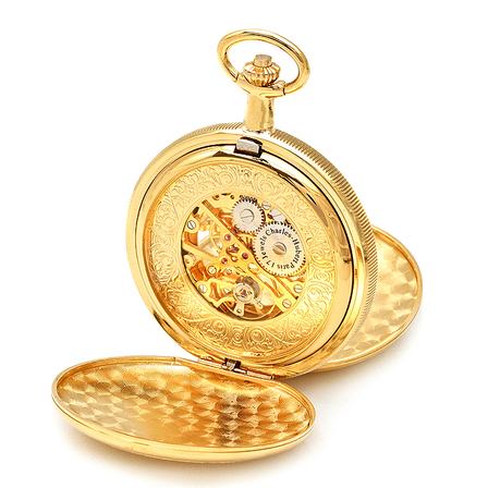 Personalized Mechanical Charles Hubert Pocket Watch & Chain #3556