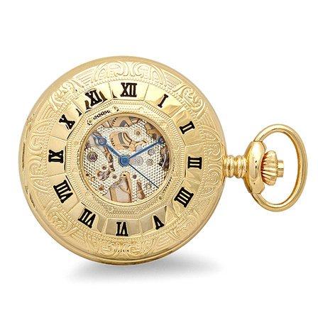 Gold Mechanical Charles Hubert Pocket Watch & Chain #3803