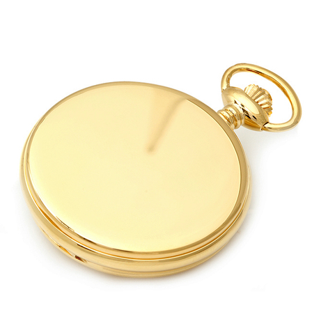 Personalized Gold Quartz Charles Hubert Pocket Watch & Chain #3675
