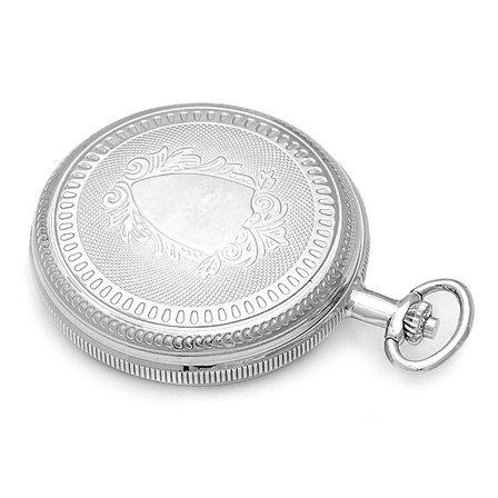 Silver Charles Hubert Pocket Watch & Chain #3909-W