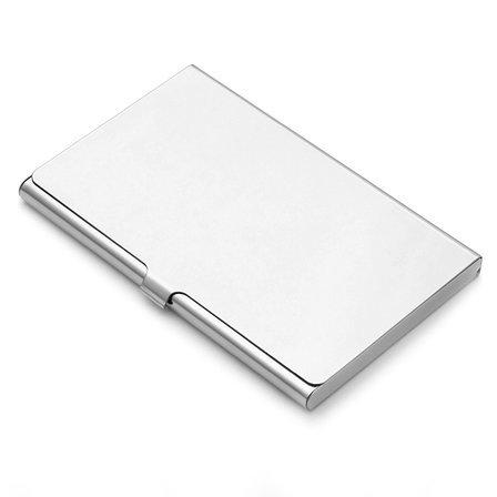Polished Steel Engraved Business Card Holder