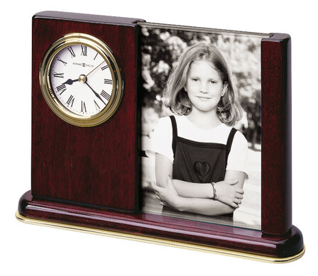 Portait Caddy Desk Clock With Photo Frame by Howard Miller