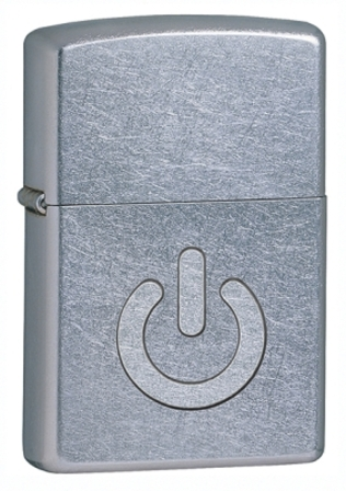 Power Button Street Chrome Zippo Lighter - ID# 28329