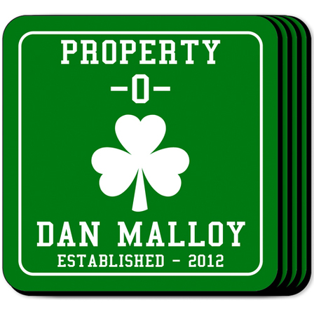 Property O Coaster Set - Free Personalization