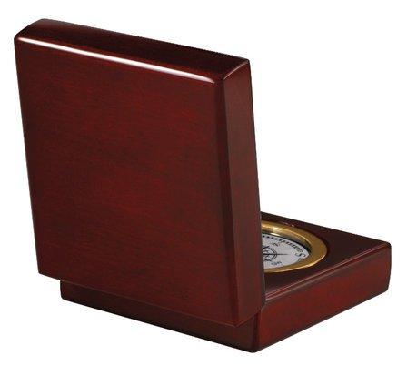Pursuit Desktop Compass & Clock by Howard Miller
