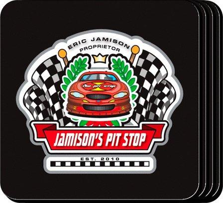 Racing Pit Stop Coaster Set - Free Personalization