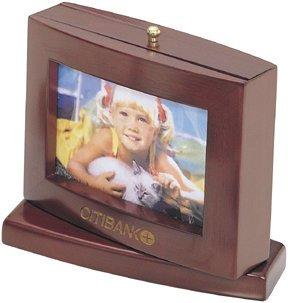 Revolving Rosewood Desktop Photo Frame