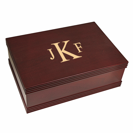 Roman Monogram   Desktop Keepsake Box
