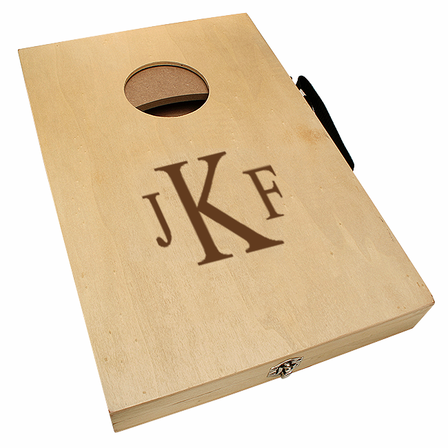 Roman Monogram  Mini Cornhole Game