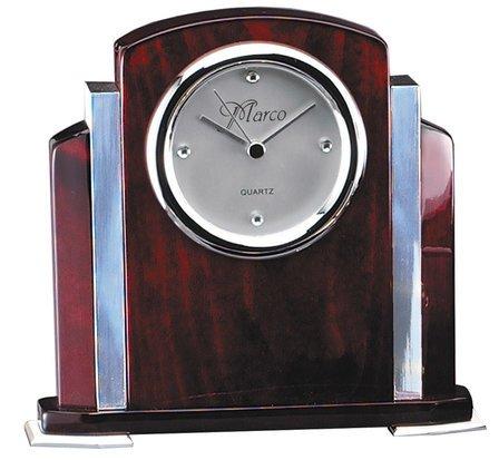 Rosewood & Aluminum Personalized Step Design Clock