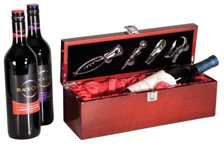 Single Bottle  Wine Presentation Box with Tools