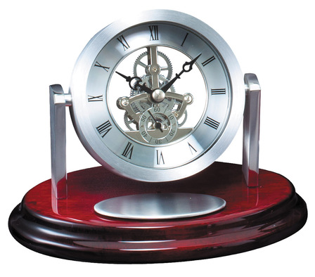 Rotating Skeleton Dial Desk Clock