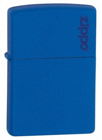 Royal Blue Matte with Zippo Logo Zippo Lighter - ID# 229ZL