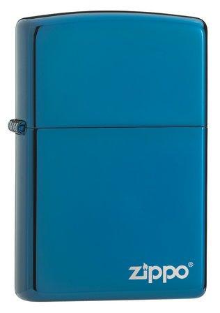 Sapphire with Zippo Logo Zippo Lighter - ID# 20446ZL