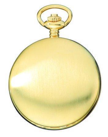 Satin Gold Charles Hubert Pocket Watch & Chain #3906-G