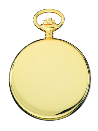 Satin Silver Charles Hubert Pocket Watch & Chain #3905-G