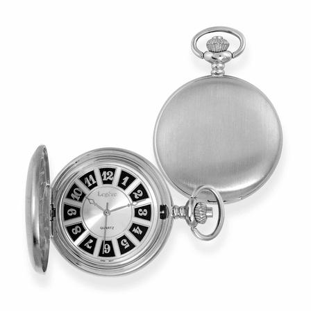 Satin Steel Classic Quartz Pocket Watch - Discontinued