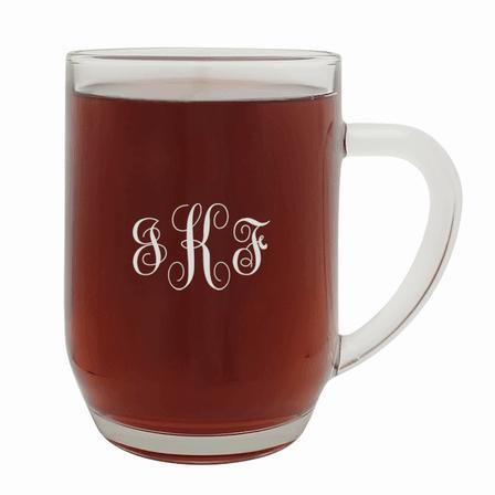 Script Monogram   20 Ounce Barrel Mug with Handle