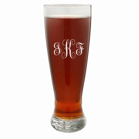 Script Monogram   22 Ounce Grand Pilsner Glass