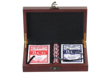 Script Monogram   Cards & Dice Set
