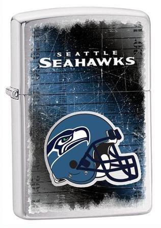 Seattle Seahawks NFL Brushed Chrome Zippo Lighter - ID# 28611