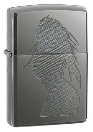 Seductive Silhouette Black Ice Zippo Lighter - ID# 20762