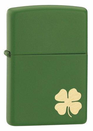Shamrock Moss Green Matte Irish Zippo Lighter - Free Engraving - ID# 21032