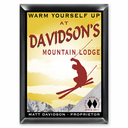 Ski Lodge Pub Sign - Free Personalization