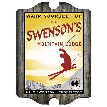 Ski Lodge Vintage Pub Sign - Free Personalization