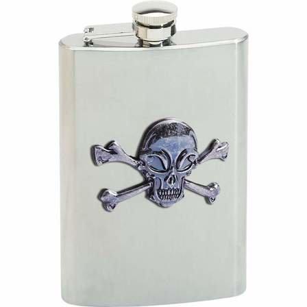 Skull & Crossbones 8 Ounce Flask