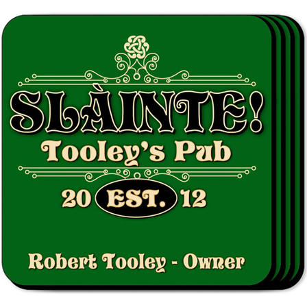 Slainte Coaster Set - Free Personalization
