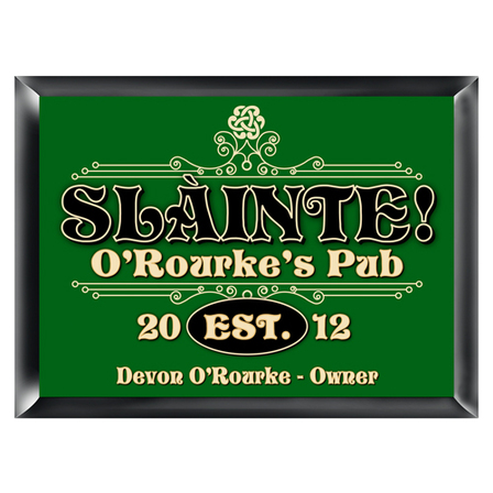 Slainte Pub Sign - Free Personalization