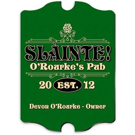 Slainte Vintage Pub Sign - Free Personalization