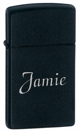 Slim Black Matte Zippo Lighter
