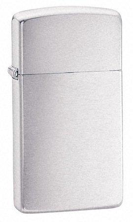 Slim Brushed Chrome Zippo Lighter
