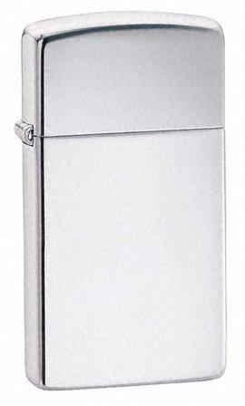 Slim High Polish Chrome Zippo Lighter - ID# 1610