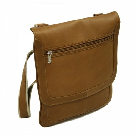 Small Vertical Messenger Bag by Piel Leather - Free Personalization