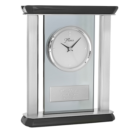 Smoked Glass Personalized Tabletop Clock