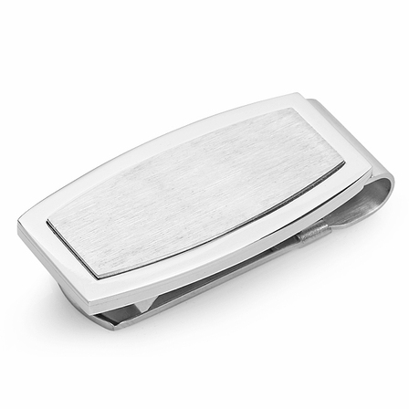 Sophisto Collection Engraved Spring Loaded Money Clip
