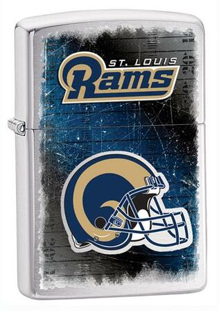 St. Louis Rams NFL Brushed Chrome Zippo Lighter - ID# 28606
