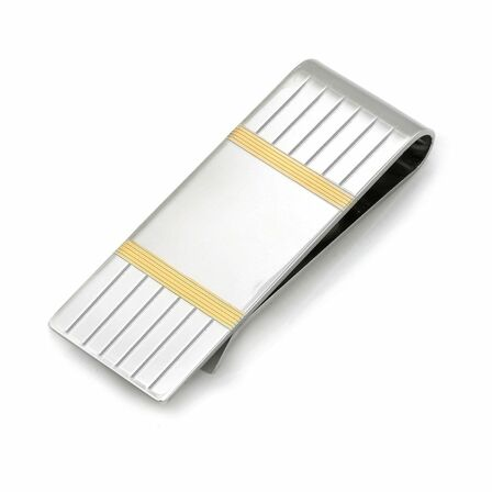 Sterling Silver Center Collection French Fold Money Clip