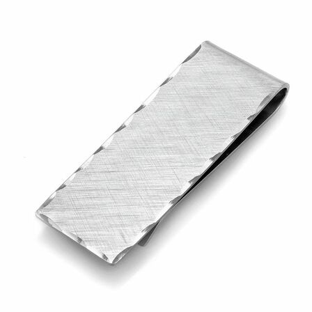 Sterling Silver Hammer Design French Fold Money Clip