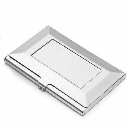 The Frame Engraved Steel Business Card Holder
