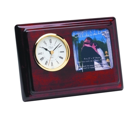 Topper Piano Finish Photo Frame & Desk Clock - Discontinued