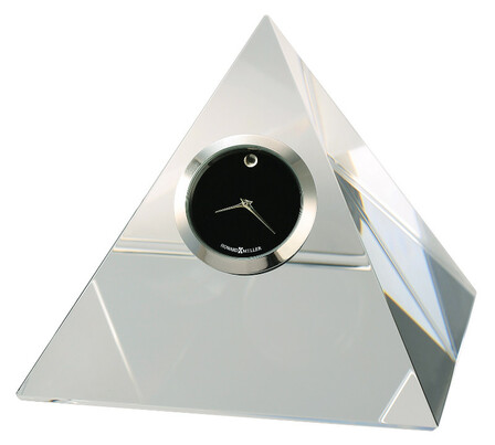 Triumph Crystal Pyramid Table Clock by Howard Miller - Discontinued