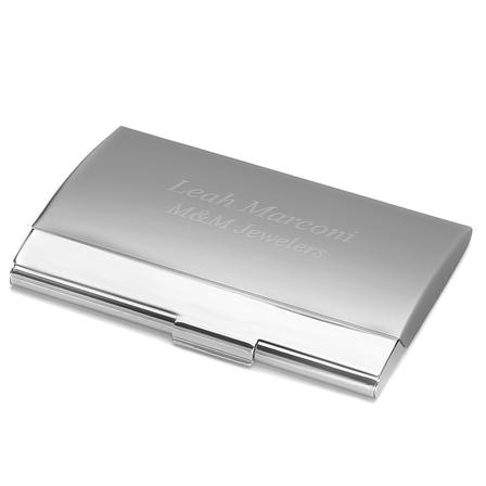 Two Tone Engraved Business Card Case