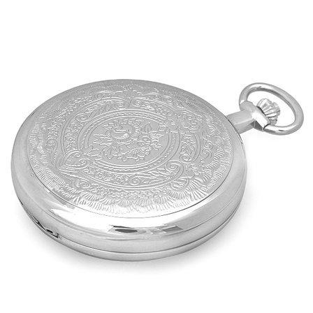 Two Tone Quartz Charles Hubert Pocket Watch & Chain #3702